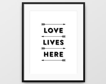 Love Quote Print, Love Printable, Arrows Print, Modern Wall Art, Love Quote, Typographic Art, Love Artwork, Love Print, Love Art, Printable