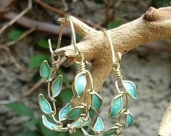 Erzulie leaf hoop earring