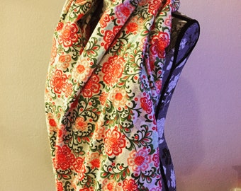 Floral Infintiy Scarf