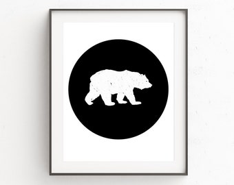 Kids Bear Art Print, Bear, Woodlands Nursery, Kids Room Decor DIY, Art Prints, Woodland Creatures, Baby Shower Gift, Animal Print