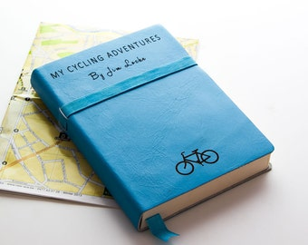 Personalized Leather Cycling/Travel Journal