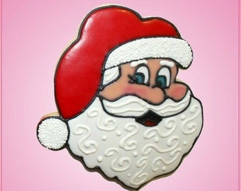 Pink Santa Face Cookie Cutter