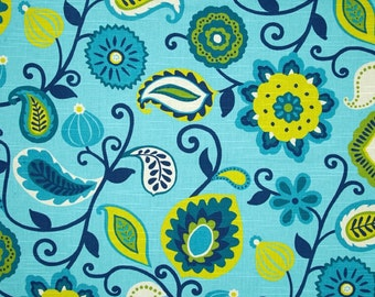 """Home Accent Flamenco Lollipop Fabric Blue 54"""" draperies, pillows upholstery by the yard"""