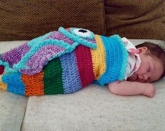 Crochet Owl Baby Cocoon and Hat Pattern