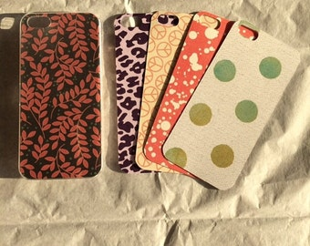 Interchangeable iPhone5/5s phone case/5 in 1 phone case/Clear iPhone 5/5s case with five interchangeable backgrounds