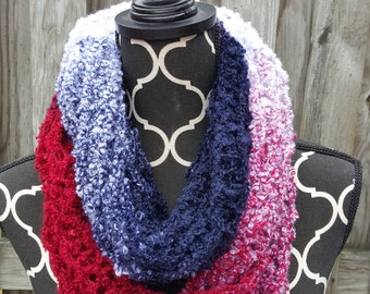 Red, White, & Blue Inifinity Scarf