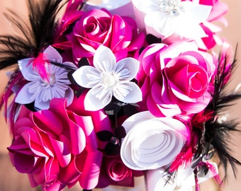 Black and Pink Funky Bouquet