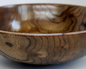 Curly Redwood Wood Bowl Enhanced Grain