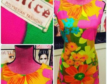 """Gorgeous colors vintage alice dress 40""""38""""42"""""""