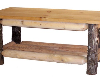 Hickory & Cedar Log Coffee table