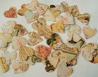 100 Vintage Stye Paris Selection - Paper Wedding / Party Table Confetti Decorations