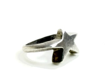 vintage sterling silver star ring marked 925 unique star ring