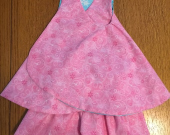 Toddler Summer Reversible Dress with matching shorts for each side of dress.