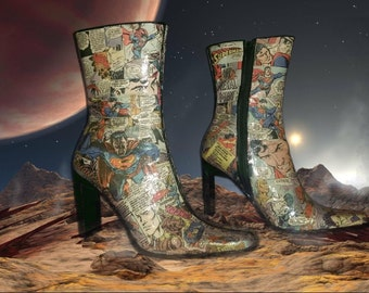 Superman Comic book boots Women's Size 8B