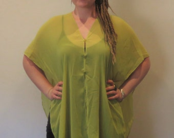 FREEDOM TOP | Green | limited edition | womens clothing | handmade | festival clothing | beach clothing | comfort | confidence
