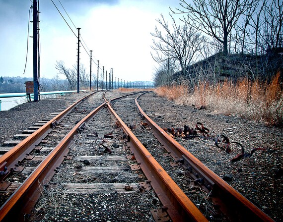 Steel Mill, Rails, Train, Tracks, Wood Print, Abandoned, Urban Exploration, Rust, Wall Art, Pittsburgh, Pennsylvania, Industrial