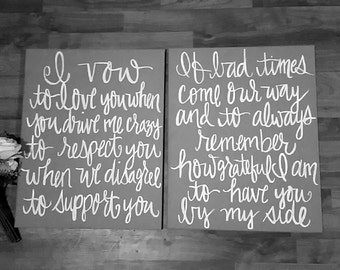 Personalized wedding vow painting