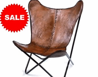 Leather butterfly hand  made -CHAIR (genuine leather)