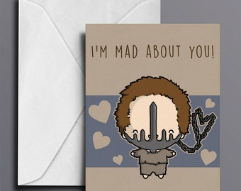 BB MINE Sci Fi Valentines Day Card Geeky Valentine