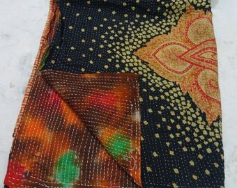 Indian Handmade Kantha Quilts Vintage Throw Bedcover Bedspread Gudri 1714 BY artisanofrajasthan