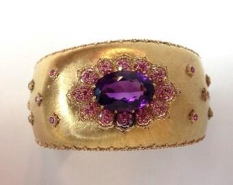 buccellati gemstone cuff bracelet