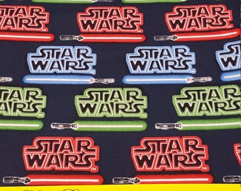 Star Wars Light Sabers-Fabric by the Yard