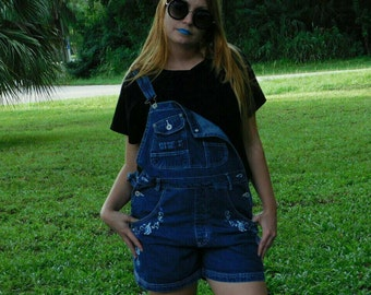 90's cool girl overalls by LA Blues