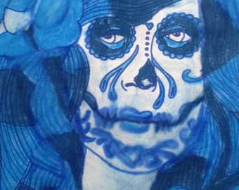 Blue Day Of The Dead Girl
