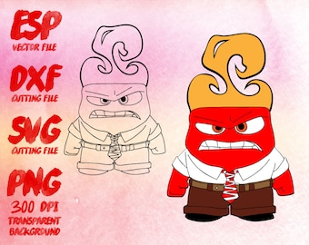 Inside Out Anger Clipart , SVG Cutting , ESP Vectors files , T shirt , iron on , sticker ,Personal Use