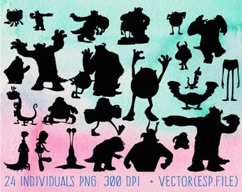 Monster University  clipart, Clip Art,T shirt, iron on, sticker, Vectors files ,Personal Use