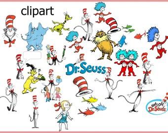 Dr Seuss Digital ClipArt