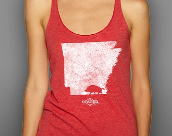 Arkansas Walking Hog Blended Tank Top