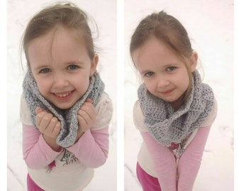 Cowl scarf, soft and lightweight, Infant scarf, Toddler scarf, Child scarf, Adult scarf