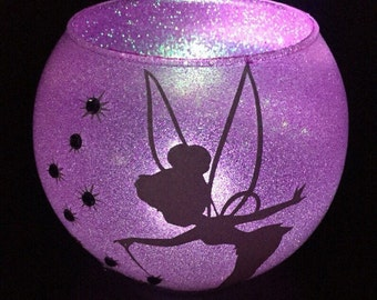 LED Tinkerbell fairy candle holder