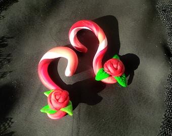 4g Rose Plug Earrings