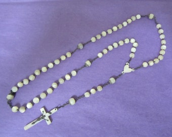 Large Rosary Rosary beads and mother-of-Pearl length 51 cm - 20497 cross