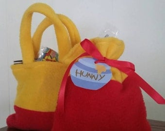 12 Winnie the Pooh favor bags - mix and match style and ribbon