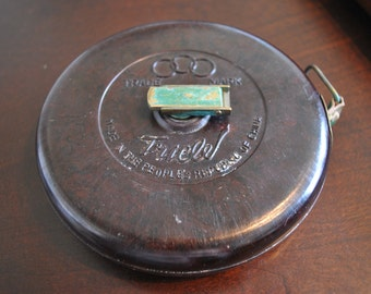 Vintage Bakelite Tricle 66' Tape Measure Made in People's Republic of China