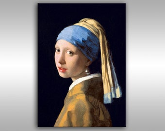 Print on canvas Girl with a Pearl Earing, johannes vermeer, vermeer painting,  Johannes Vermeer Art, Johannes Vermeer Girl with the Pearl