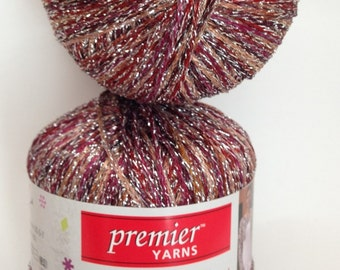 Premier Spangle Yarn, Color-Brown Bling, Content Blend-polyester and glitter yarn, Weight -Light weight yarn #3