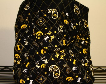 Quilted Iowa Hawkeye Tote