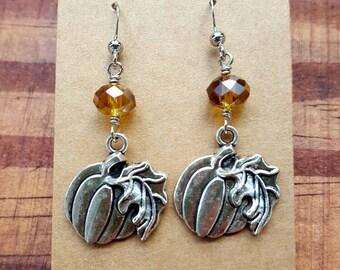 Free shipping! pumpkin earrings, Halloween earrings, fall earrings, Halloween jewelry, pumpkin jewelry