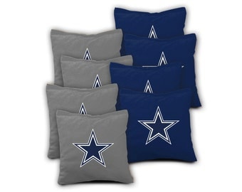 DALLAS COWBOYS Set of 8 ACA Regulation Cornhole Bags Bean Bag Toss