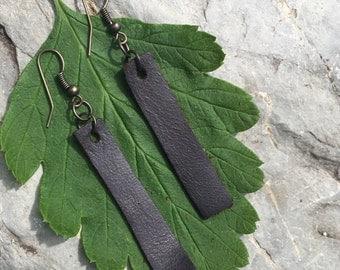 Simple Leather Earrings