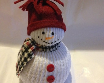 Fabric Snowman