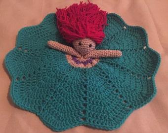 Crochet Ariel Lovey, Security Blanket