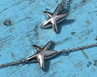Sea Star Necklace 925 Silver Yellow Rose Gold