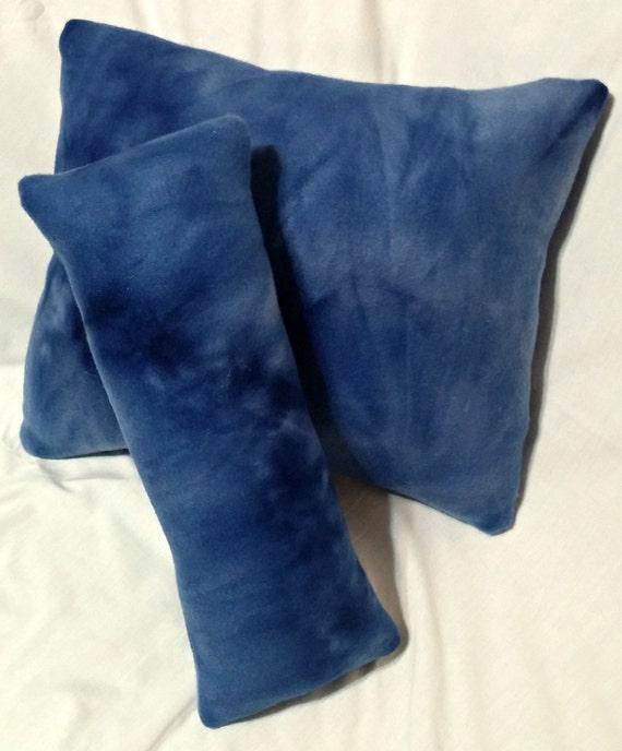 Items similar to Fleece Travel Pillow, Stuffed Throw Pillow, Blue Pillow, Fleece Neck Pillow ...