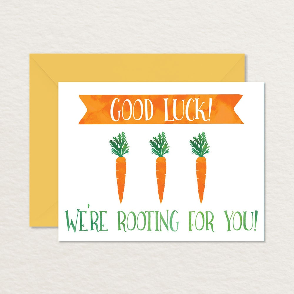 This is a photo of Hilaire Printable Good Luck Cards