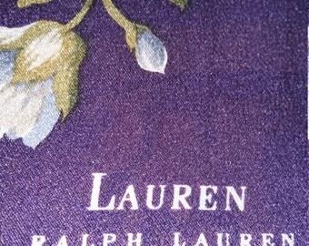 Vintage Ralph Lauren Floral Silk Scarf